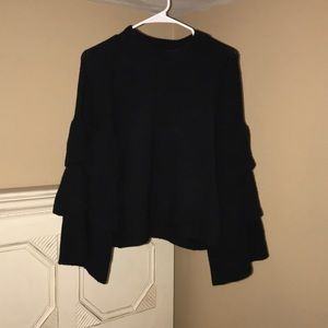 Sweaters - Ruffle Bell Sleeve Sweater